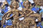 icon, Saints Boris and Gleb, copper alloy, 5-color enamel, Russia, the end of the 19th century, 13.6...